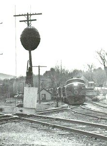 Black and White photo of winter train