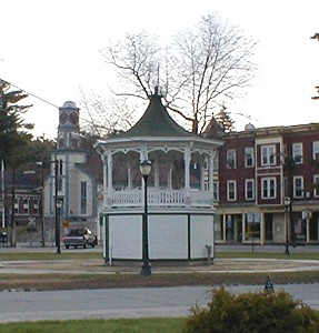 picture of an elevated gazebo in the Town Center