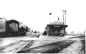 Black and White photo of  train station