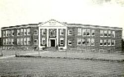 black and white photo of school