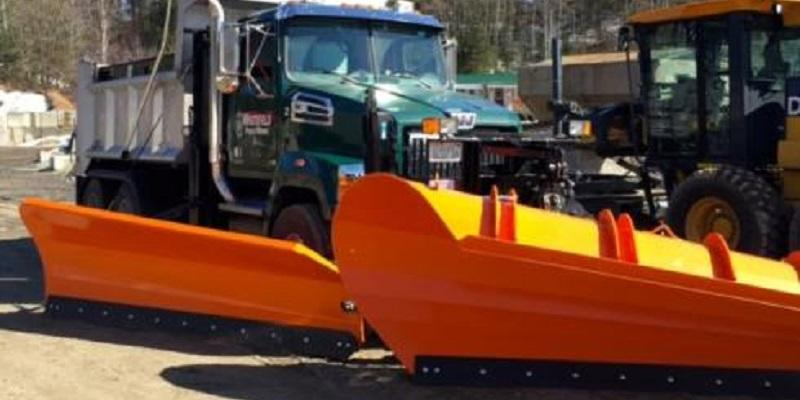 Dump Truck with a Plow on the Front
